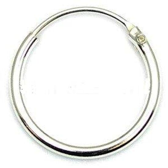 Mens Small 925 Sterling Silver Hinged Ear Hoop Sleeper