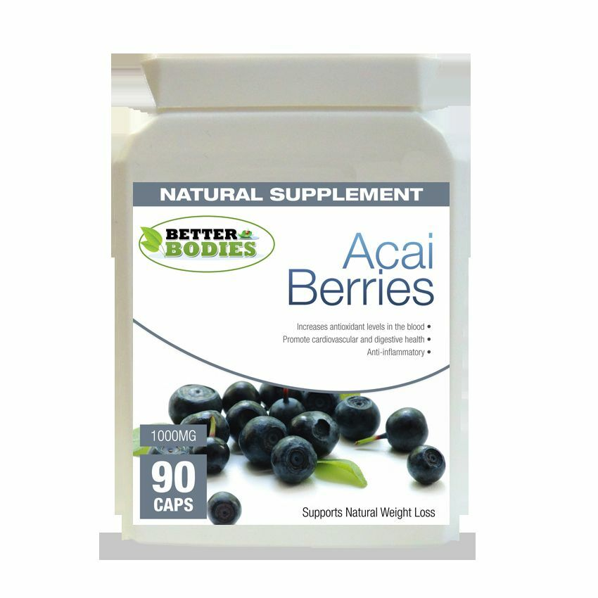 90 Acai Berry 1000mg Strong Weight Loss Diet capsules Antioxidant Pills Tablets | eBay