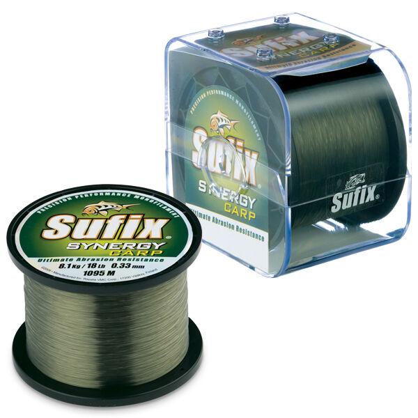 Sufix synergy carp low vis weedy green fishing line ebay for Green fishing line