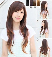 Fashion Women's Girls Long Wavy Curly Hair Full Wig Wigs Cosplay Costume New