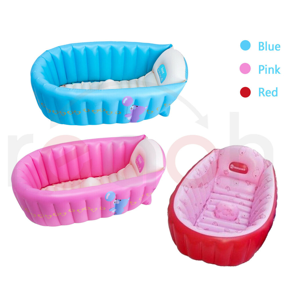 summer portable baby kid toddler inflatable bathtub newborn thick green bath tub ebay. Black Bedroom Furniture Sets. Home Design Ideas
