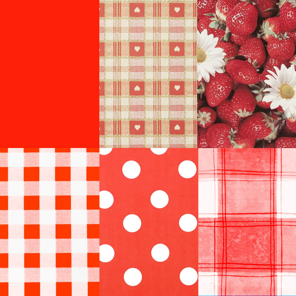 Red Tablecloth Pvc Wipeclean Vinyl Tablecloth Round