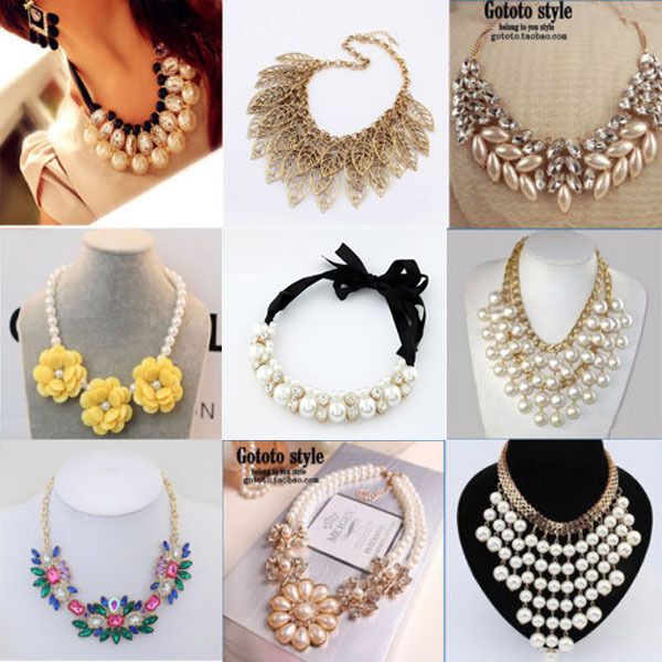 Occident Style Luxury Exaggerate Pearl Crystal Clavicle Necklace 40 Style Ebay