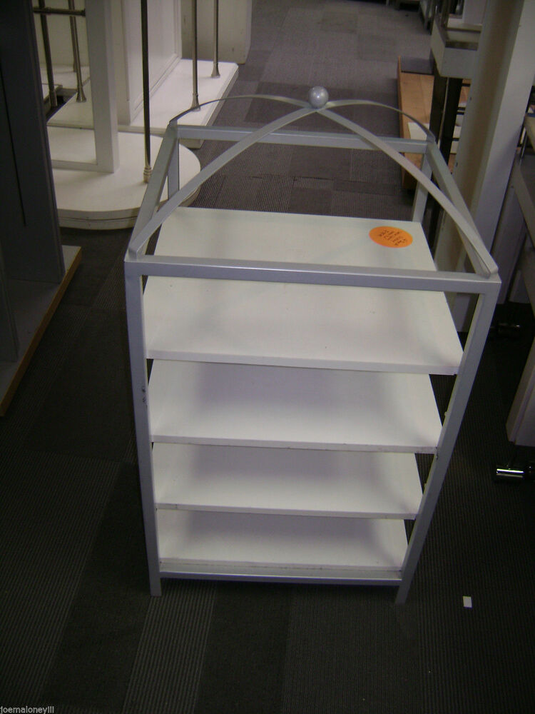 Retail Display White Short Domed Shelving Unit Display