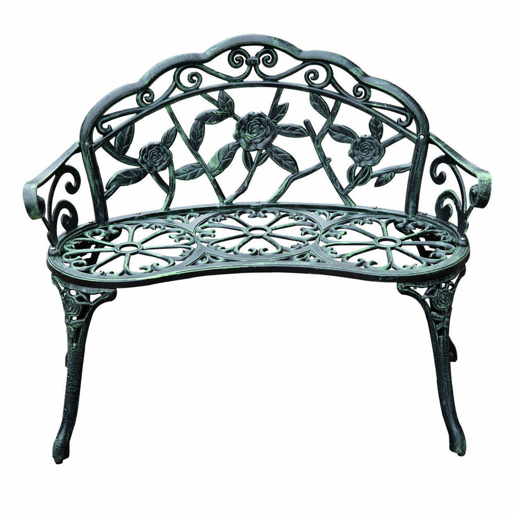 40 Quot Antique Style Patio Porch Garden Bench Cast Aluminum