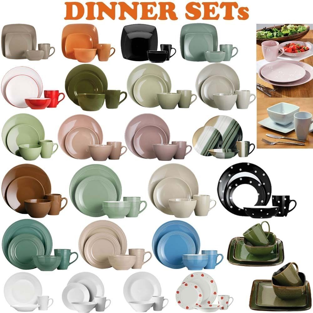 16 or 32pcs dinner set for dining tableware plates cups bowls in
