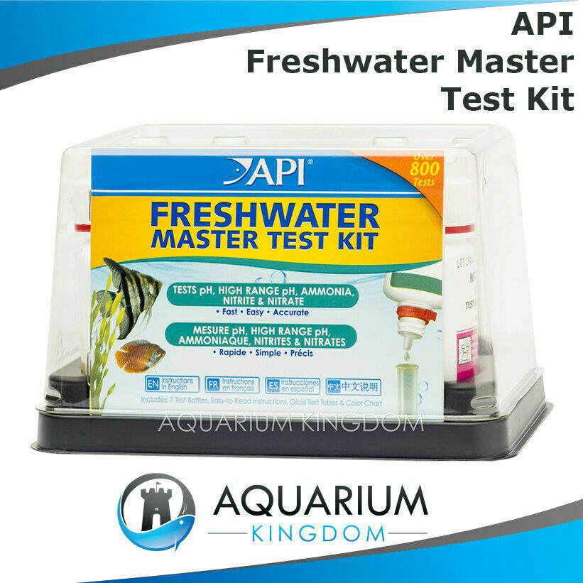 Api freshwater master test kit ph ammonia nitrite for Nitrite in fish tank