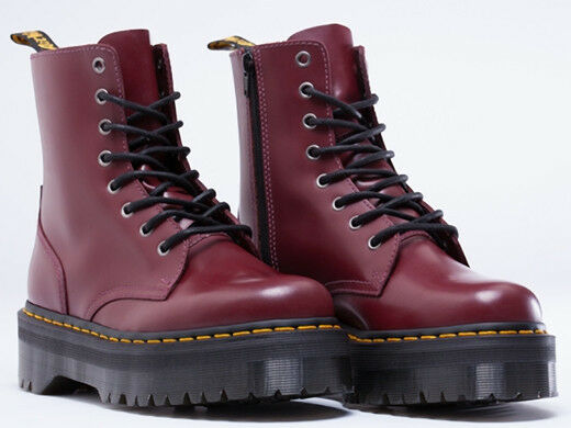 dr martens women s jadon aggy style cherry red boot all. Black Bedroom Furniture Sets. Home Design Ideas