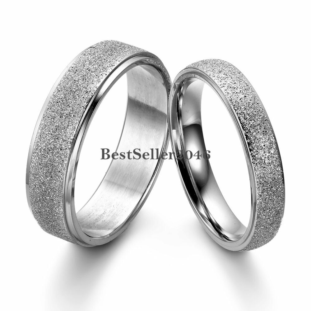 Silver Frosted Dome Stainless Steel Couples Promise