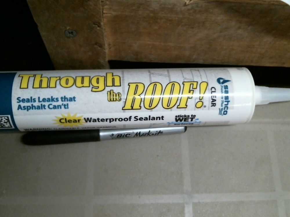 Sashco Through The Roof Roof Sealant 10 5 Ounce Cartridge