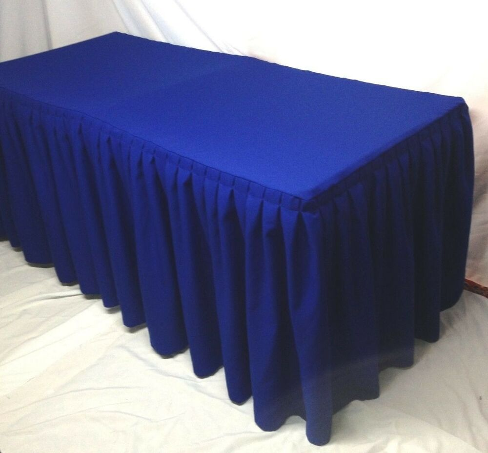 5 ft fitted polyester pleated table skirt cover w