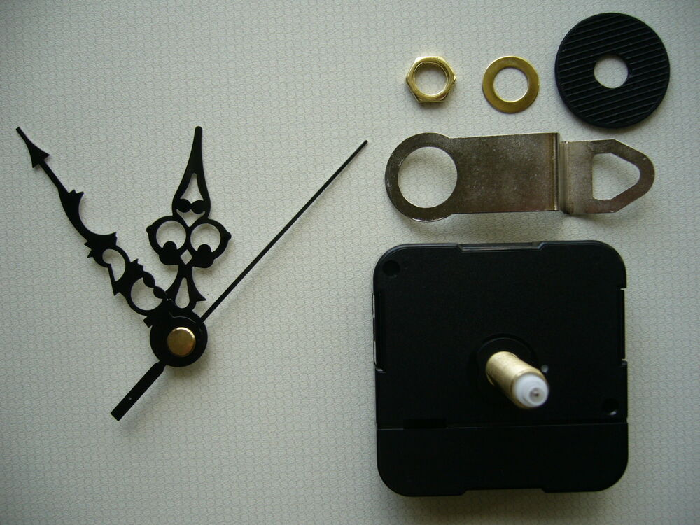 Clock Mechanism Quartz Extra Long Spindle 66mm Black