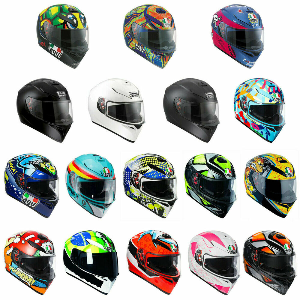 fast shipping agv k3 motorcycle helmet black wake up continents donkey ebay. Black Bedroom Furniture Sets. Home Design Ideas