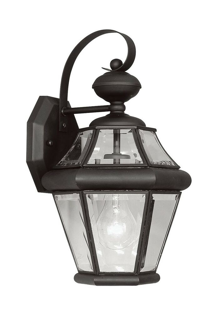 1 Light Black Georgetown Livex Outdoor Wall Sconce ...