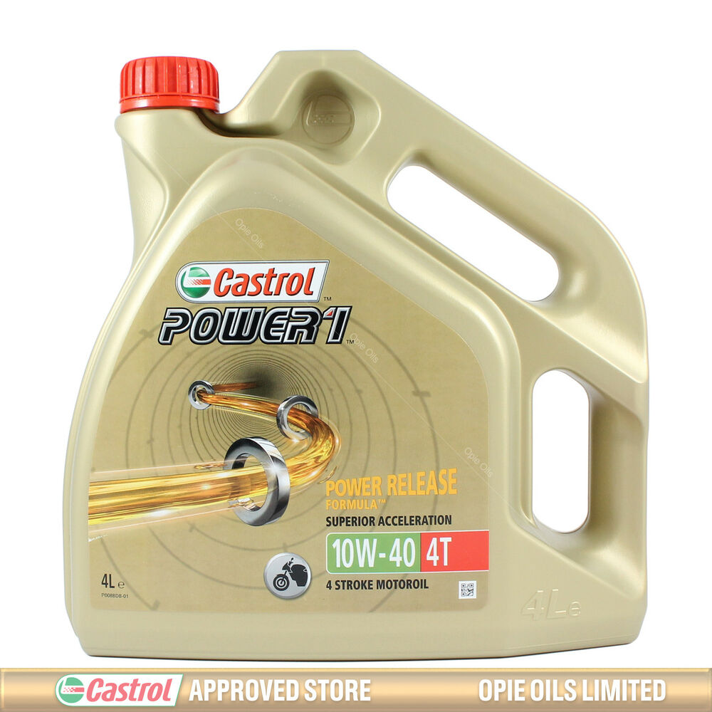 1L / 1 Litre 10W40 Castrol Power 1 4T Semi Synthetic ...
