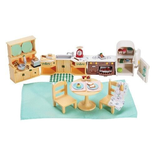 Calico critters kozy kitchen set ebay for Kitchen set for babies