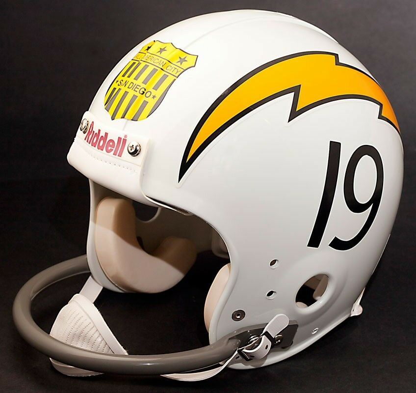 San Diego Chargers Decals: SAN DIEGO CHARGERS 1963-1964 Football Helmet Shield Decal