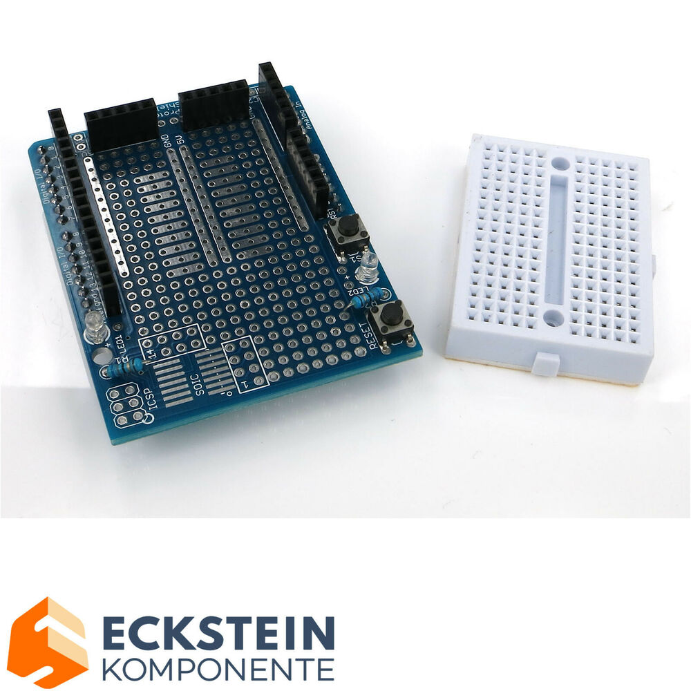 Prototype shield v mini breadboard for arduino uno
