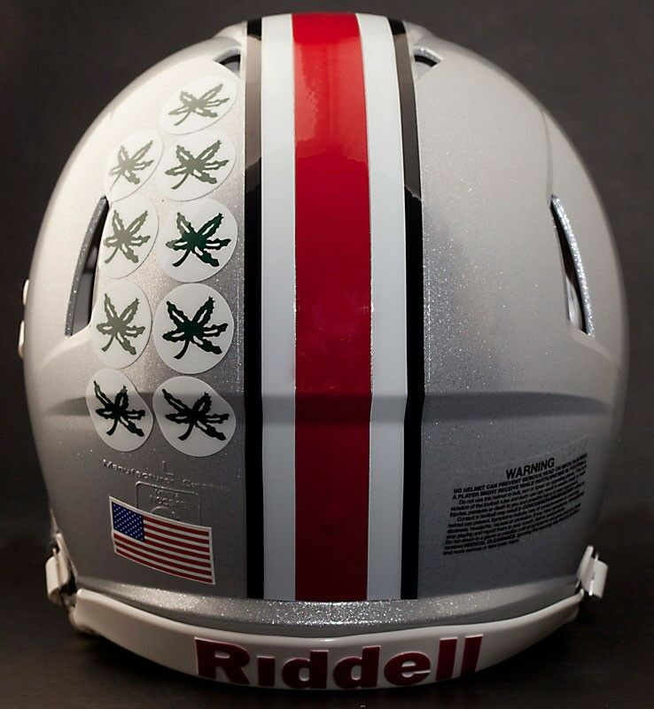 "OHIO STATE BUCKEYES Football Helmet ""BUCKEYE"" AWARD Decals ..."