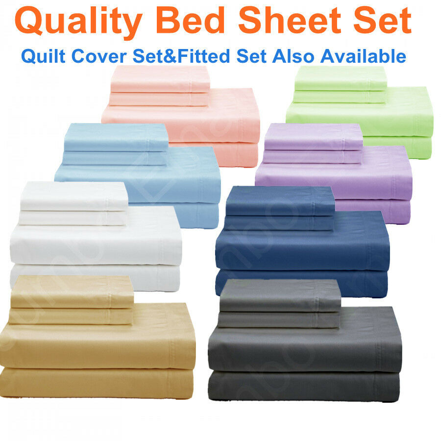 New Single Ks Double Queen Amp King Bed Sheet Set Fitted Sheet