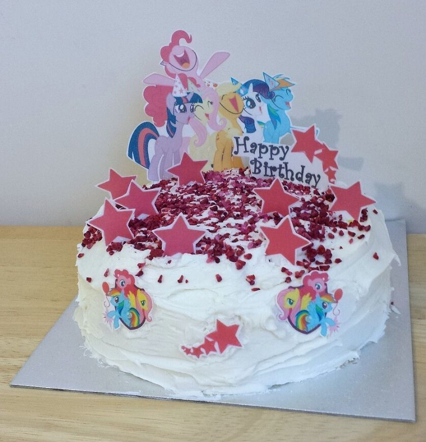 MY LITTLE PONY edible 3D scene cake decoration set stand ...