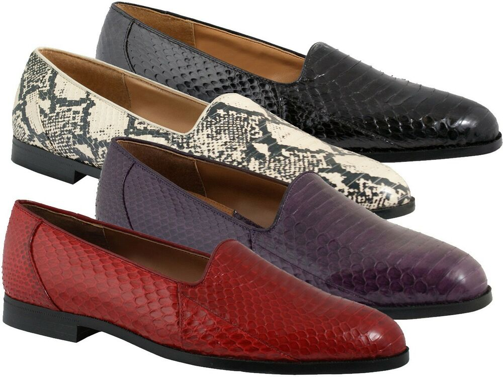 Mens Red Snakeskin Shoes