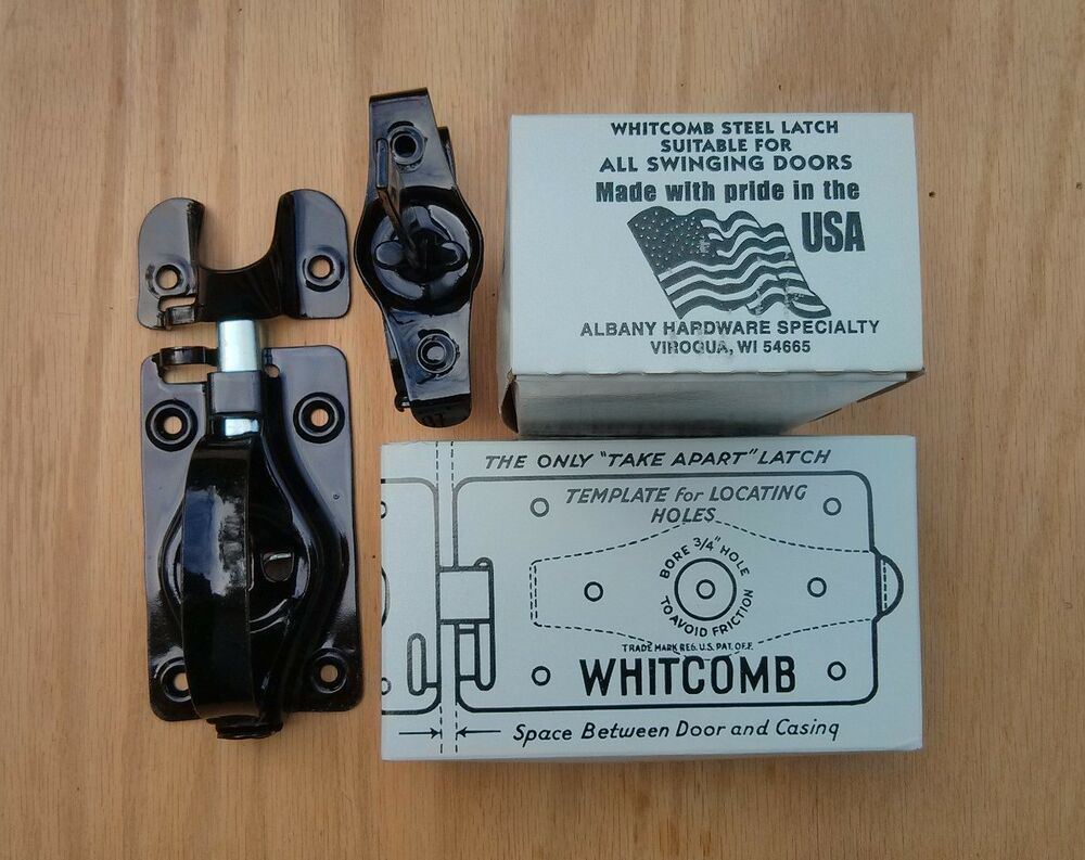 2 Whitcomb Shed Door Latches For Swinging Doors Black