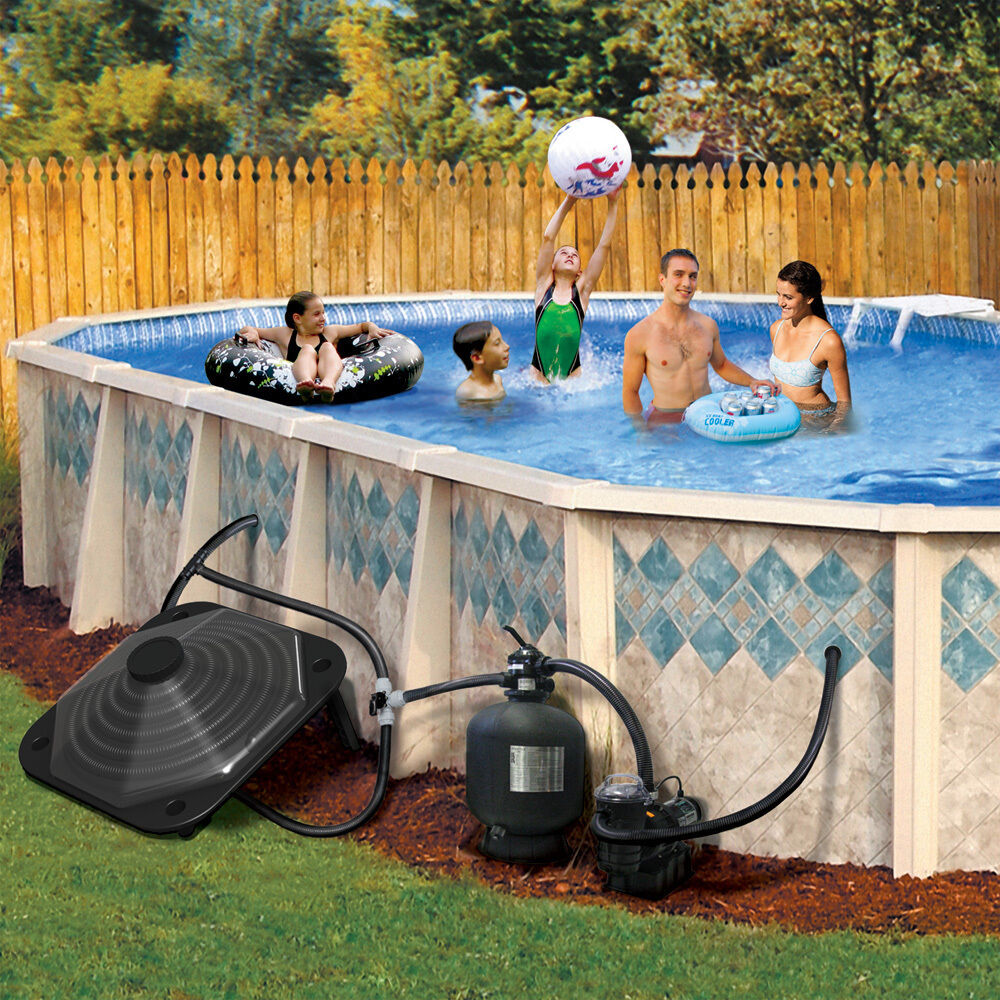 Poolmaster above ground swimming pool solar heater ebay - Solar powered swimming pool heater ...