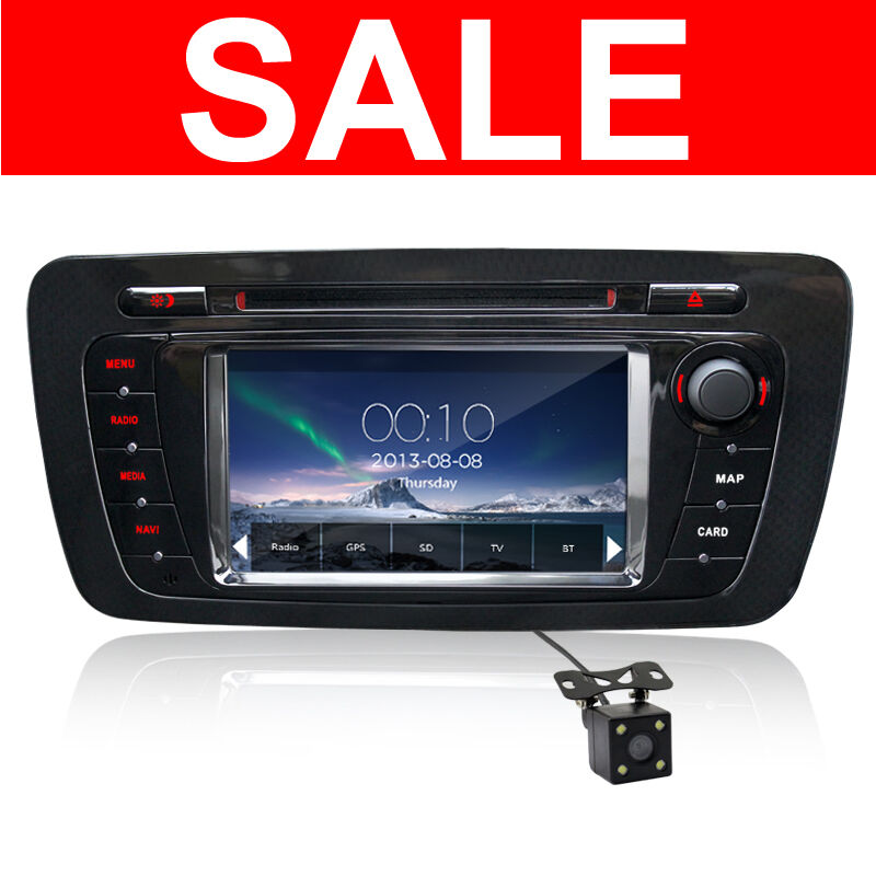 dvd gps player car sat nav stereo radio bluetooth for seat ibiza 2009 2013 ebay. Black Bedroom Furniture Sets. Home Design Ideas