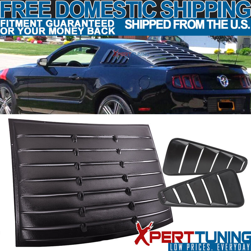 05 09 ford mustang vintage style quarter side rear for 05 mustang rear window louvers