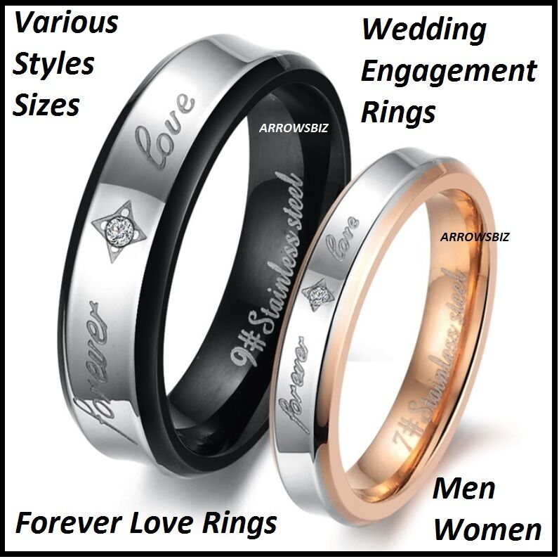 wedding engagement gold silver metal love rings size 5 12 ebay