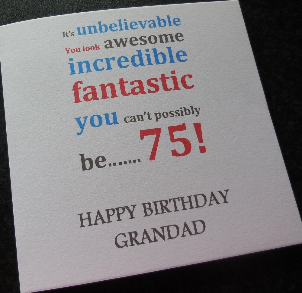 40th 50th 60th Birthday Gifts For Husband Dad Grandad: Personalised Birthday Card Dad Grandpa 40th/50th/60th/65th