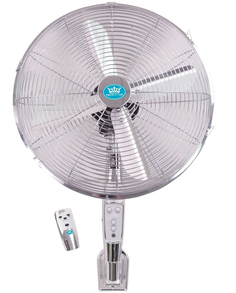 Prem I Air 16 Quot Chrome Wall Mounted Cold Air Fan With