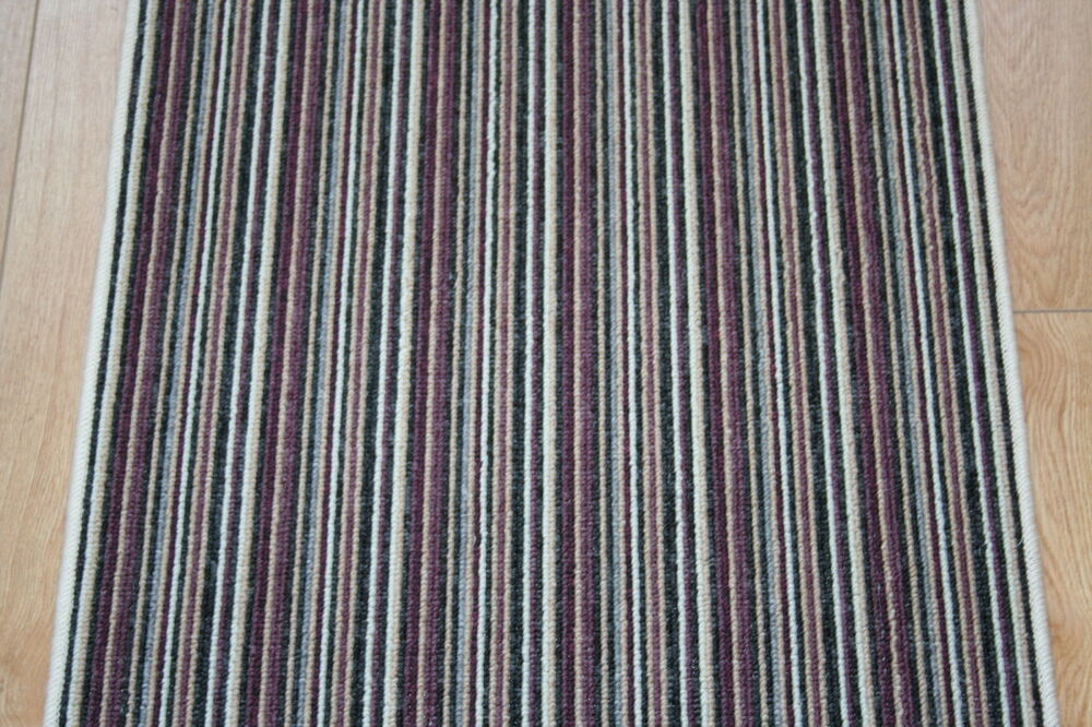 Stairs Hall Runner Purple Stripe Carpet Stripey 60cm X