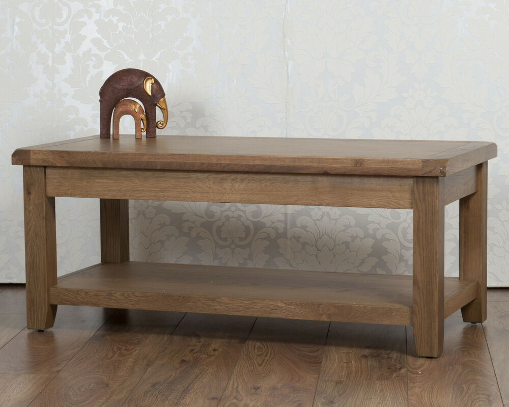 Solid chunky oak dorset country fully assembled coffee for Large chunky coffee table