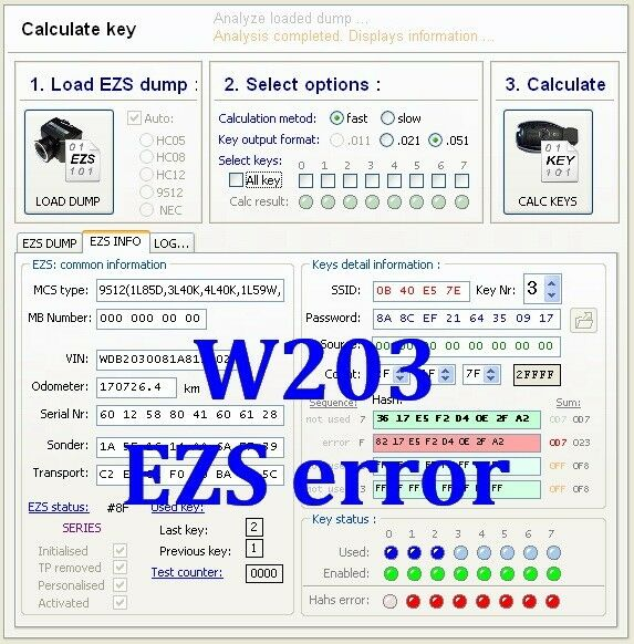 Mercedes benz w203 eis ezs electronic ignition switch for Mercedes benz ignition key troubleshooting