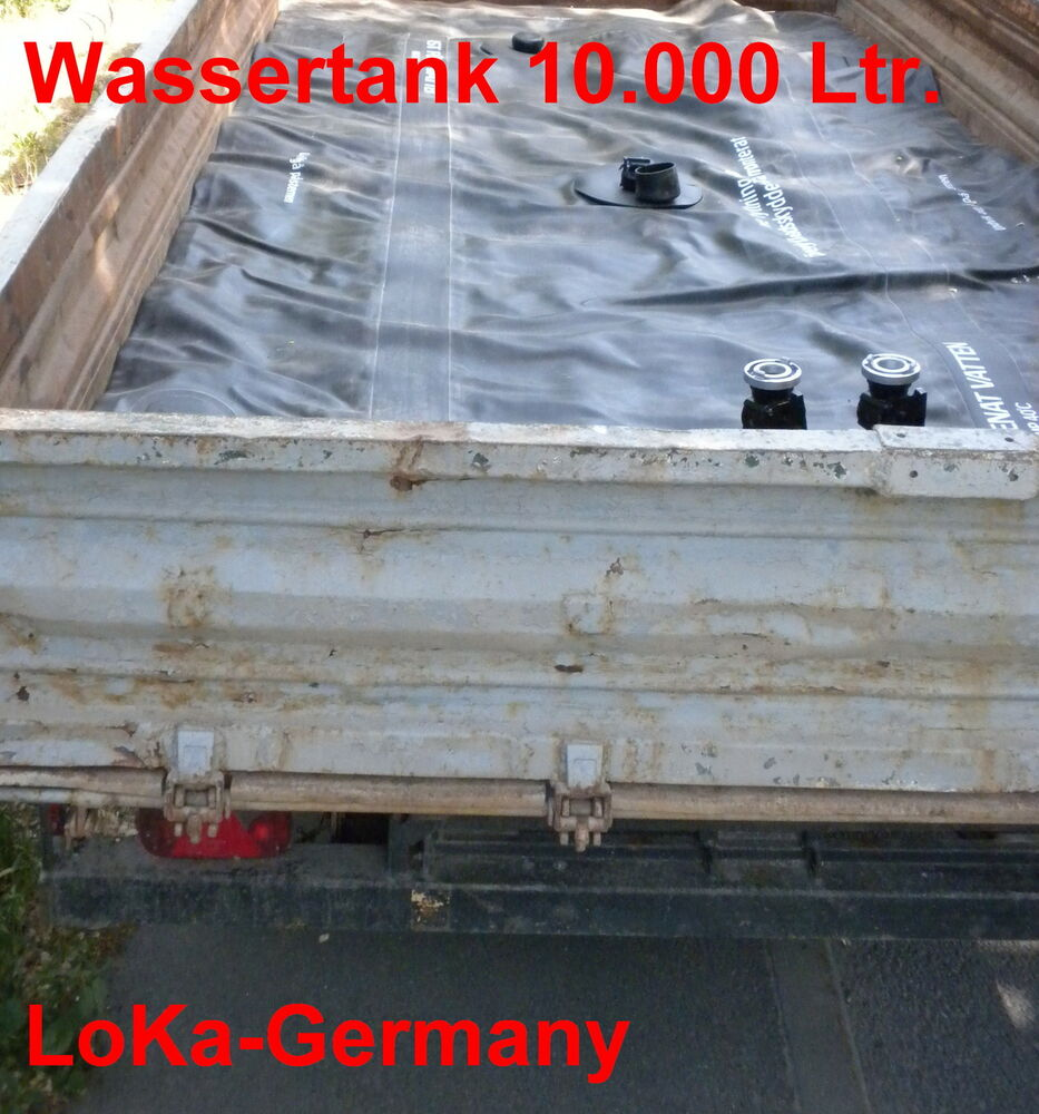 wassertank 10000 l faltbar wasserkissen falttank nos schwedische armee ebay. Black Bedroom Furniture Sets. Home Design Ideas