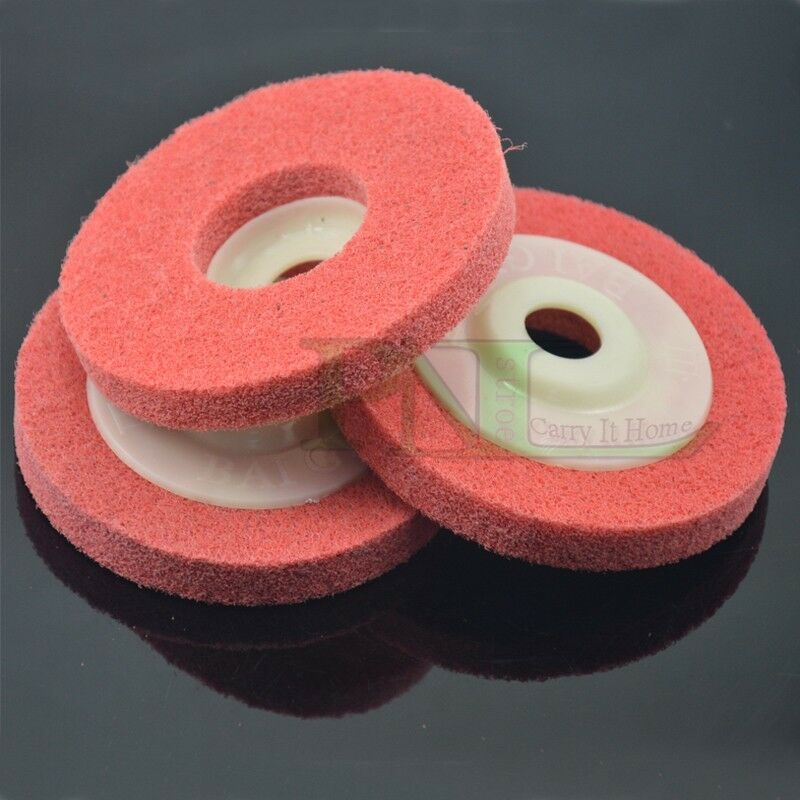 3x pigeons fiber wheels nylon wheel bowl polishing abrasive discs red white ebay. Black Bedroom Furniture Sets. Home Design Ideas