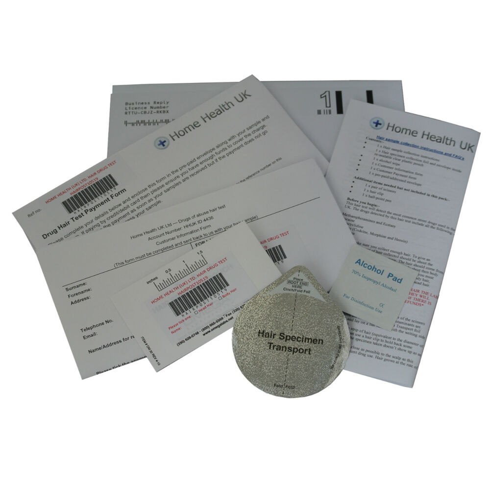Hair Drug Test Kit for Cannabis Cocaine & more Max 90 Day History-POSTAL  EXPRESS 5055718941379   eBay