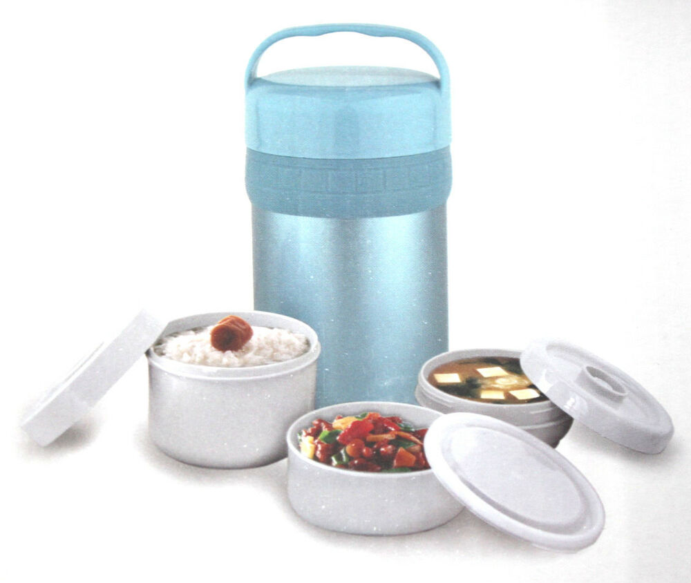 Vacuum stainless steel flask thermos soup food lunch carrier travel 1