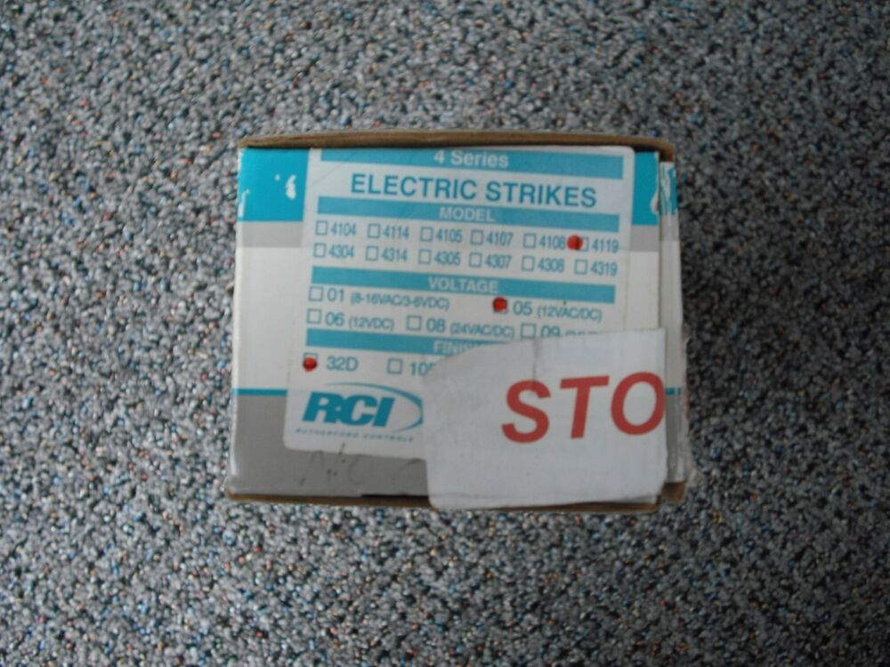 Rutherford Controls Rci 430709 Centerline Electric Strike Fail