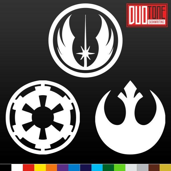 rebel alliance imperial galactic empire sticker vinyl. Black Bedroom Furniture Sets. Home Design Ideas