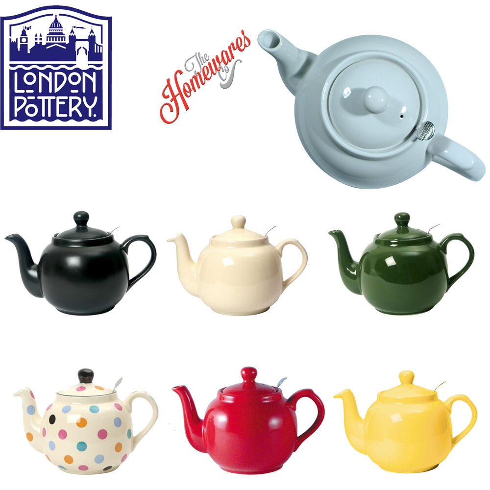 London Pottery Uk British Design Farmhouse Filter Teapot