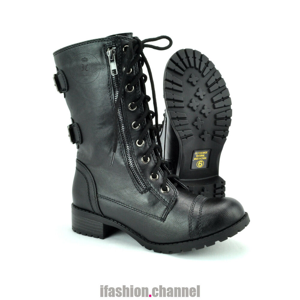Womens Combat Style Boots