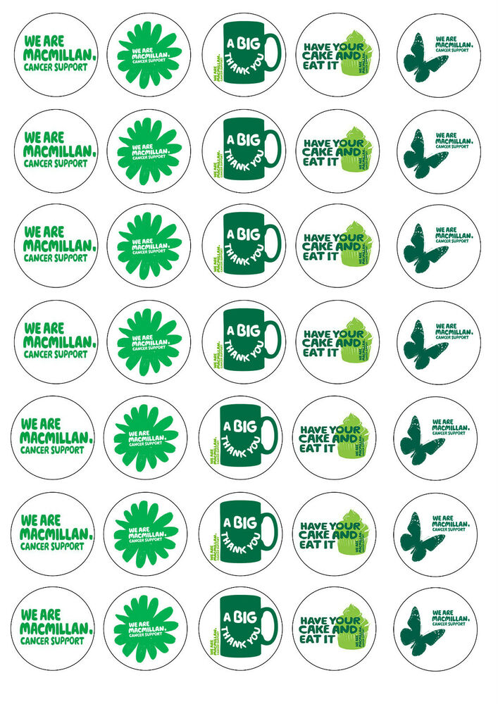 Macmillan Coffee Morning Cake Labels