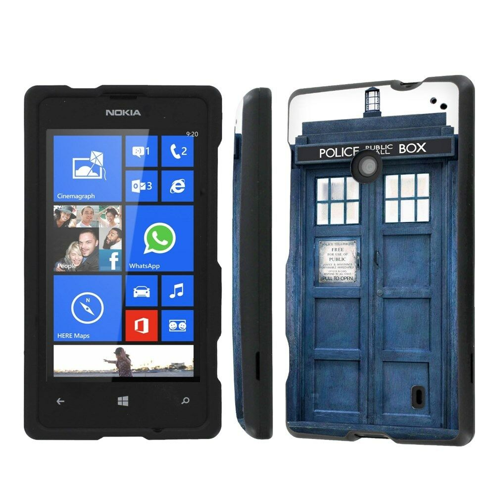 Case Design rubberized cell phone cases : ... Lumia 635 Total Armor Cover Design Hard Case - Blue Phone Box : eBay