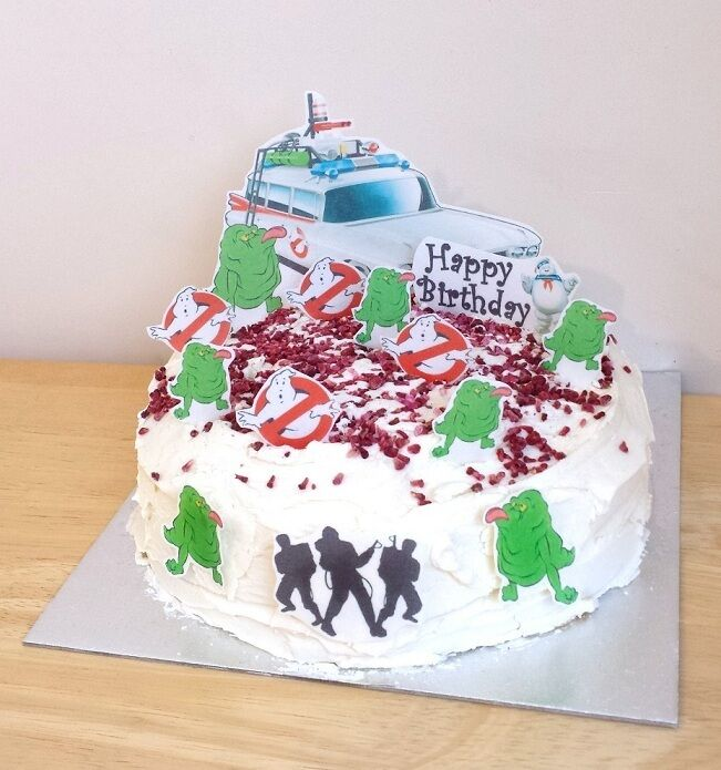 GHOSTBUSTERS edible 3D scene cake decoration set stand up ...