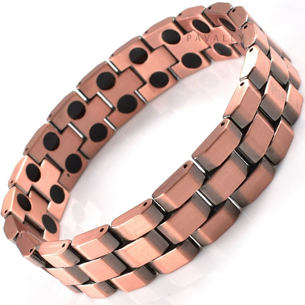 Mens MAGNETIC THERAPY BRACELET 36 magnets bangle quality ...