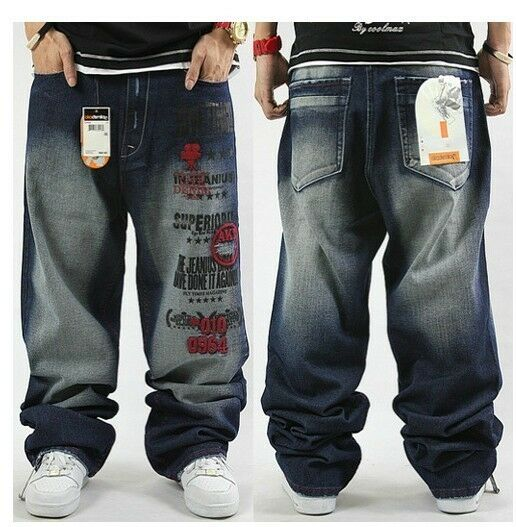 graffiti embroidery cool men 39 s hip hop jeans casual pants size 32 42 6002 ebay. Black Bedroom Furniture Sets. Home Design Ideas