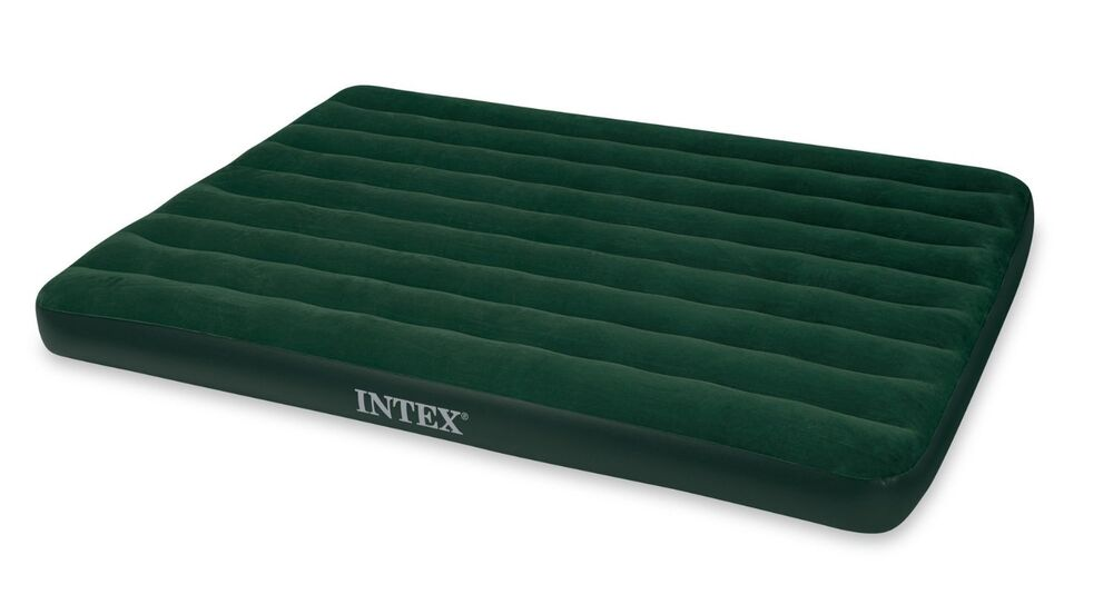 Intex Queen Prestige Downy Airbed Air Mattress With Hand